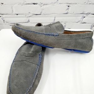 Donald Pliner Men's Gray Suede Loafers size 11